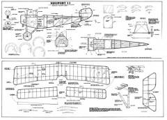 Nieuport 11 model airplane plan