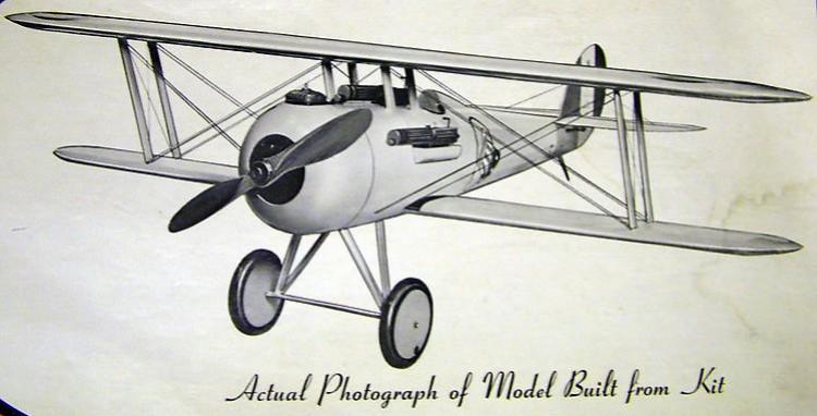 Nieuport 28 model airplane plan
