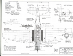 North American AT-6 Texan model airplane plan