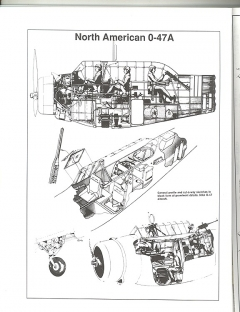 North American O-47A model airplane plan