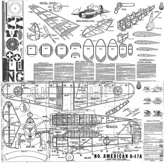 North American O-47a Whitman model airplane plan
