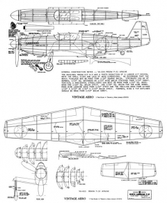 North American P-51 Apache-Megow model airplane plan