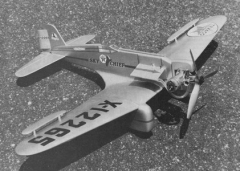 Northrop Gamma model airplane plan