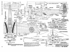 Northrup A17A model airplane plan