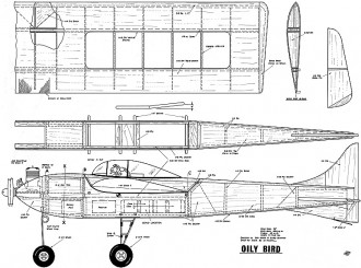 Oily Bird MAN 56in model airplane plan