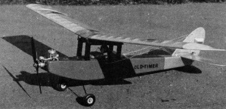 Old Timer model airplane plan