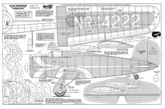 Lockheed Orion Model 9 model airplane plan