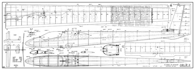 Orlik II model airplane plan