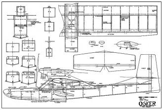 Osker 57in AAM model airplane plan