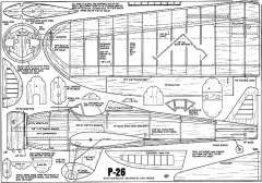 P-26 Sheeks CL model airplane plan