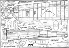 P-26 Sheeks CL model airplane plan