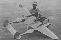 P-38L model airplane plan