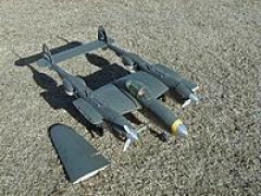 P38 Lightning model airplane plan