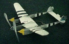 P-38  no cal model airplane plan