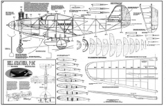 P-39C model airplane plan