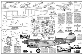 P-40D Warhawk model airplane plan