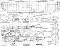 P-47D Stunt CL model airplane plan