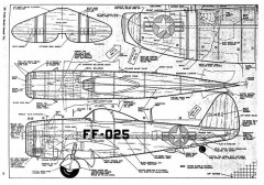 P-47 BDN model airplane plan