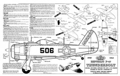 P-47 Thunderbolt model airplane plan