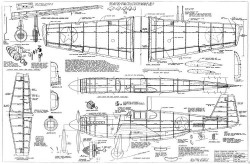North American P-51A Mustang model airplane plan