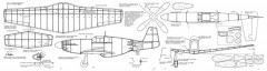 P-51B 3 model airplane plan
