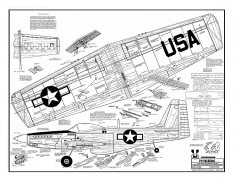 P-51 48in by Midwest model airplane plan