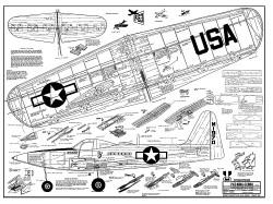 P-63 King Cobra model airplane plan