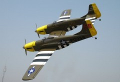 P-82E Twin Mustang model airplane plan