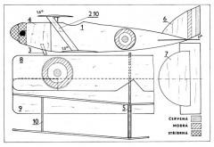 P.V 8 model airplane plan