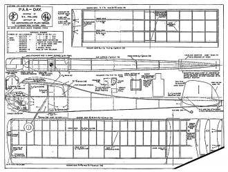 PAA-Day Dec 53 plan model airplane plan
