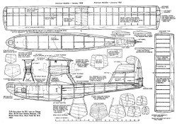 PB-1 Twin Plan Cleaned model airplane plan