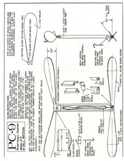 PC-9 helicopter model airplane plan