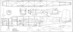 B-25 Michell model airplane plan