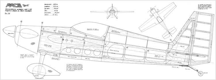 Pace Spirit model airplane plan