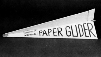 Paper Glider model airplane plan
