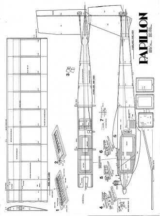 Papillonrc model airplane plan