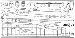 Patek 13 model airplane plan