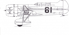 gee bee QED model airplane plan