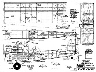 Pete N Rand RCM-331 model airplane plan