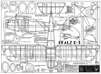Pfalz D-3 model airplane plan