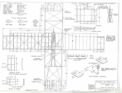 Pfitzner 1910 Monoplane model airplane plan