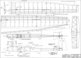 Pierce Arrow model airplane plan