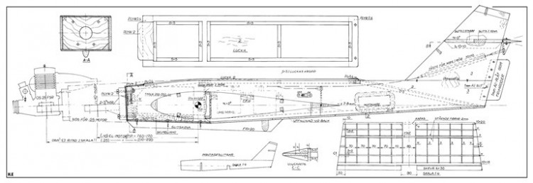 Pilfinken model airplane plan