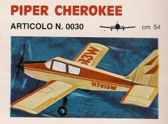Piper Cherockee model airplane plan