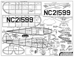 Piper J4 Cub Coupe 25in Comet E6 model airplane plan