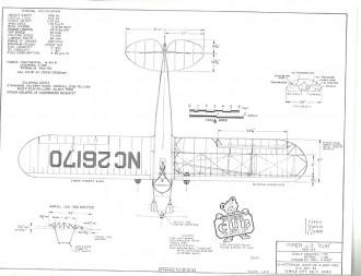 Piper J-3 Cub model airplane plan
