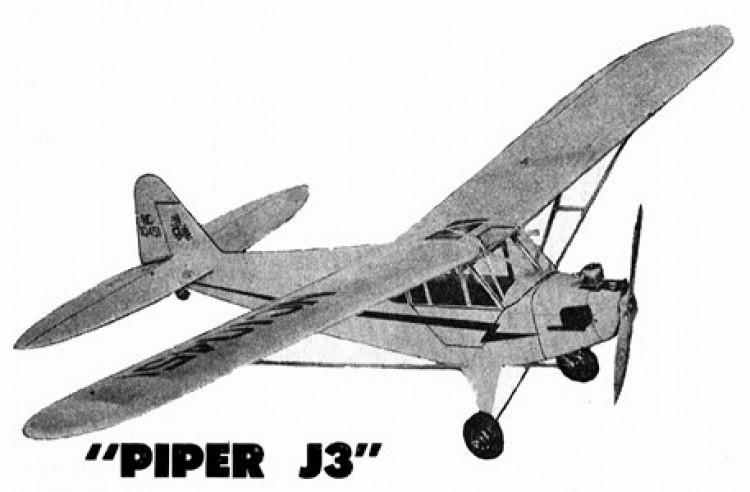 Piper J3 model airplane plan