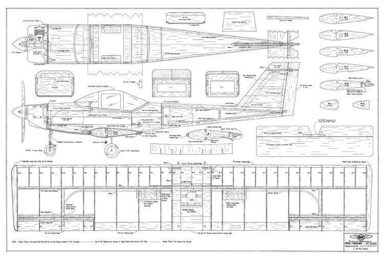 Piper Tomahawk-Orline model airplane plan