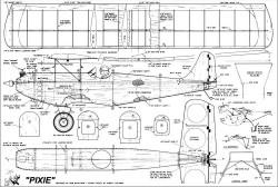 Pixie RC Bipe model airplane plan
