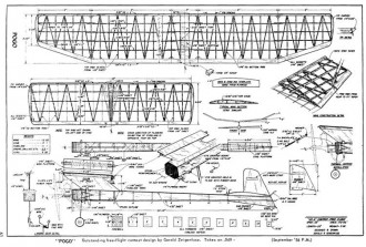 Pogo model airplane plan